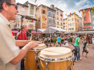 Concert place du Plot, événement, visite du Puy-en-Velay, Pays du Velay, Haute-Loire, Auvergne