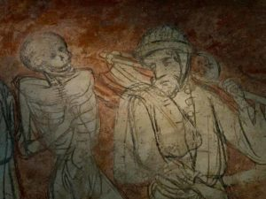 Danse macabre à l'Abbatiale de la Chaise dieu,Haute-Loire, Auvergne