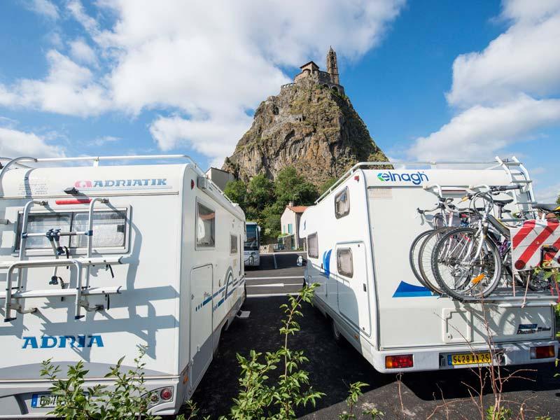 Aires de service pour camping-cars, où dormir en Haute-Loire, Auvergne