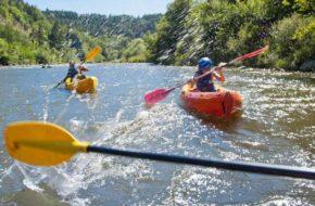Canoe sur la Loire en amont de Bas-en-Basset