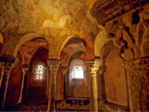 Peintures murales, Chapelle Saint-Michel-d'Aiguilhe au Puy-en-Velay, Haute-Loire, Auvergne