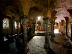 Voûtes de la chapelle St Michel d'Aiguilhe, Le Puy-en-Velay, Haute-Loire, Auvergne