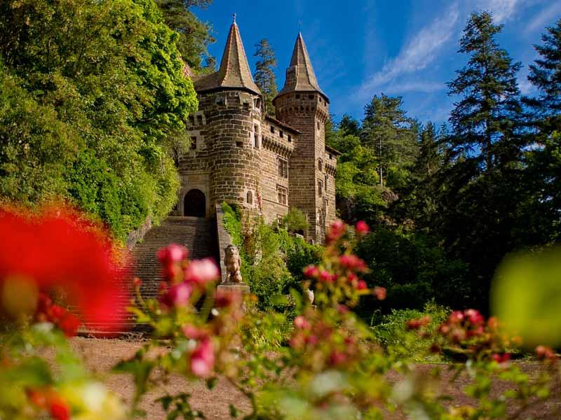Chateau de la Rochelambert à Saint Paulien, Pays du Velay, Haute-Loire, Auvergne