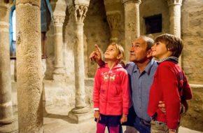 La crypte de l'église de Beauzac.