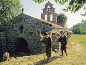 Chapelle de Montbonnet, GR®65, Saint-Jacques de Compostelle, itinéraires culturels européens, Pays du Velay, Haute-Loire, Auvergne