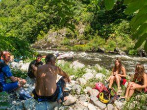 Canoë, Kayak, Rafting, Hot-dog, Nage en eau vive, Sports d'eaux vives dans les Gorges de l'Allier au Pays de Lafayette, Haute-Loire, Auvergne