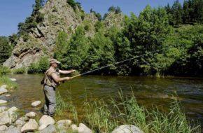 Pêche en rivière, Loisirs de pleine nature, Pays de la Jeune Loire, Haute-Loire, Auvergne