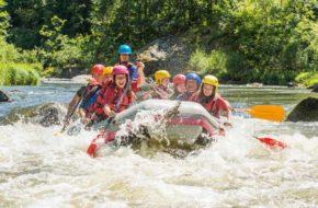 Rafting sur la rivière Allier