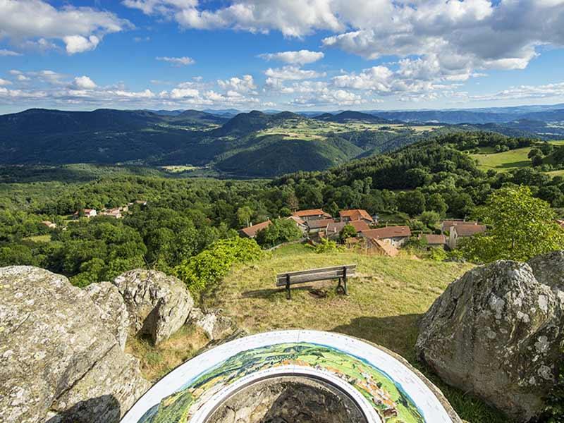 Circuit d'interprétation des paysages, Roche-en-Régnier, Pays du Velay, Haute-Loire Auvergne