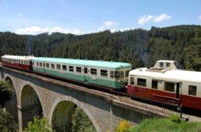 Train touristique du Haut Forez, d'Estivareilles à Sembadel via Craponne, Loisirs de pleine nature, Pays du Velay, Haute-Loire, Auvergne