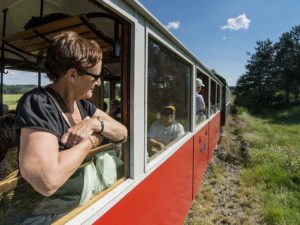 Voyage en train touristique entre Tence et Montfaucon.