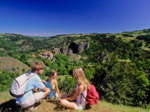 Panorama du village de caractère d'Arlempdes,Haute-Loire, Auvergne