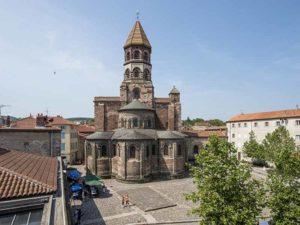 La basilique romane Saint-Julien de Brioude, Haute-Loire, Auvergne