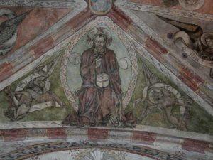 Fresques et peintures murales de l'église de St Cirgues, Haute-Loire, Auvergne