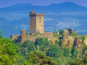 Forteresse de polignac offrant un panorama à 360 degrés, Haute-Loire, Auvergne