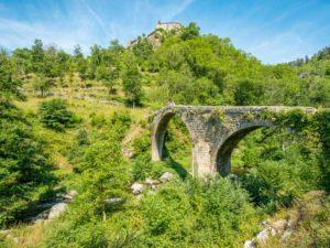 Pont du diable, Chalencon, St André de Chalencon, Haute-Loire, Auvergne