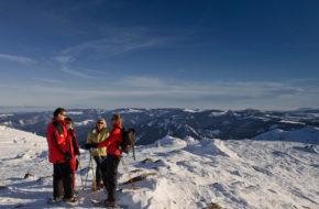 Bouger, Sports d'hiver, Randonnées en raquettes dans le massif du Mézenc, les Estables, Haute-Loire, Auvergne