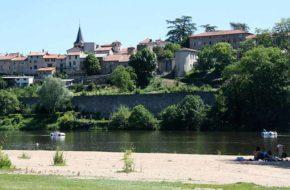 Aurec-sur-Loire - 2 fleurs, villes et villages fleuris, Haute-Loire, Auvergne