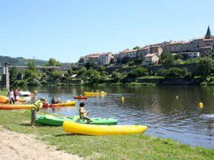 Aurec-sur-Loire, activités de pleine nature, activités nautiques, villes et villages fleuris, Haute-Loire, Auvergne