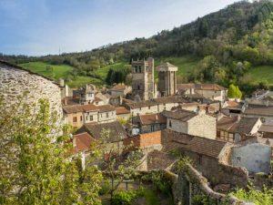 Village de Blesle, villes et villages fleuris, Haute-Loire, Auvergne