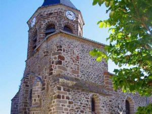 Eglise de Siaugues-Saint-Romain commune de Siaugues-Sainte-Marie, villes et villages fleuris, Haute-Loire, Auvergne
