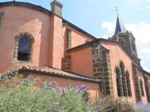 Eglise de Vorey-sur-Arzon, villes et villages fleuris, Haute-Loire, Auvergne