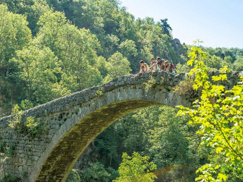Le pont du Diable à Chalencon, Vallée de l'Ance, Pays du Velay, Haute-Loire, Auvergne