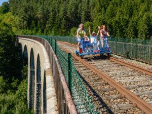 Vélo-rail proche de Dunières et Pradelles