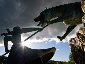 La bête du Gévaudan, Auvers, Boucle moto à la journée : Le Midi de l'Auvergne… au fil de l'eau, Haute-Loire, Auvergne