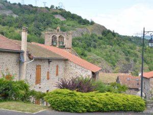 Eglise Saint-Pierre à Monistrol d'Allier, villes et villages fleuris, Haute-Loire, Auvergne