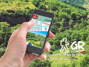 Bouger, A pied, Grandes randonnées, Application mobile GR470 « Sources et Gorges de l'Allier », Haute-Loire, Auvergne