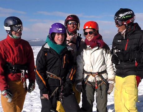 On a testé le snowkite aux Estables !