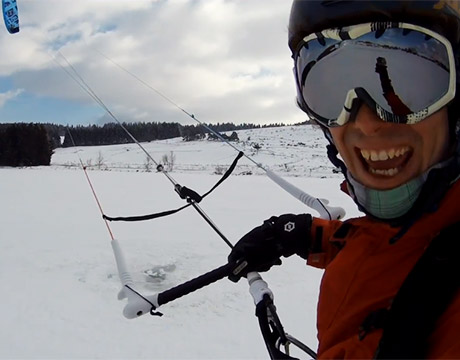 Didier Botta, le Champion du monde de snowkite