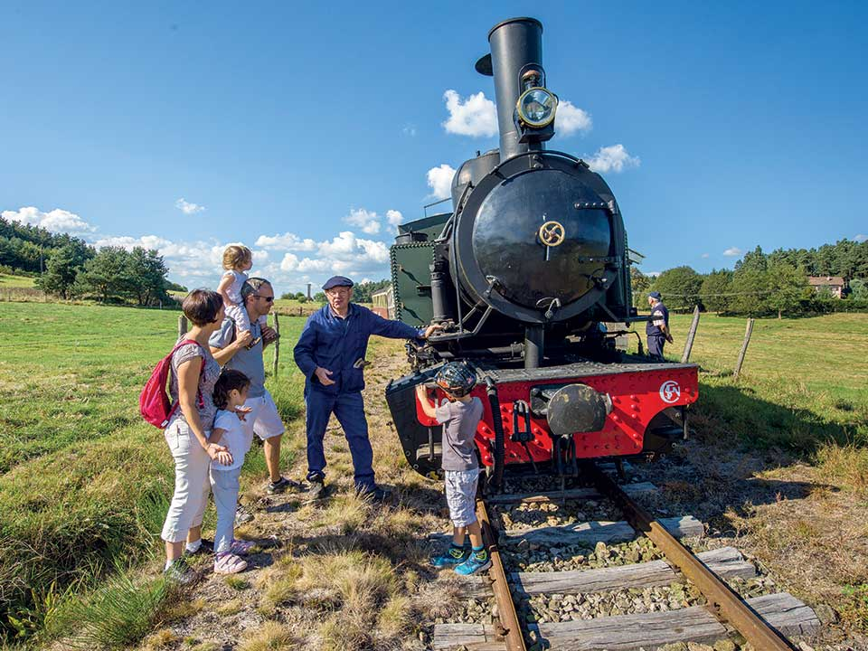 Train à vapeur sur la Via Fluvia