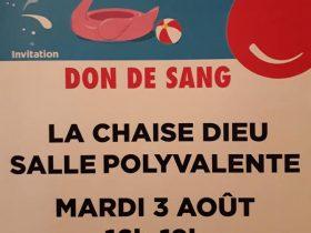 EVE_Don du sang_affiche_La Chaise-Dieu