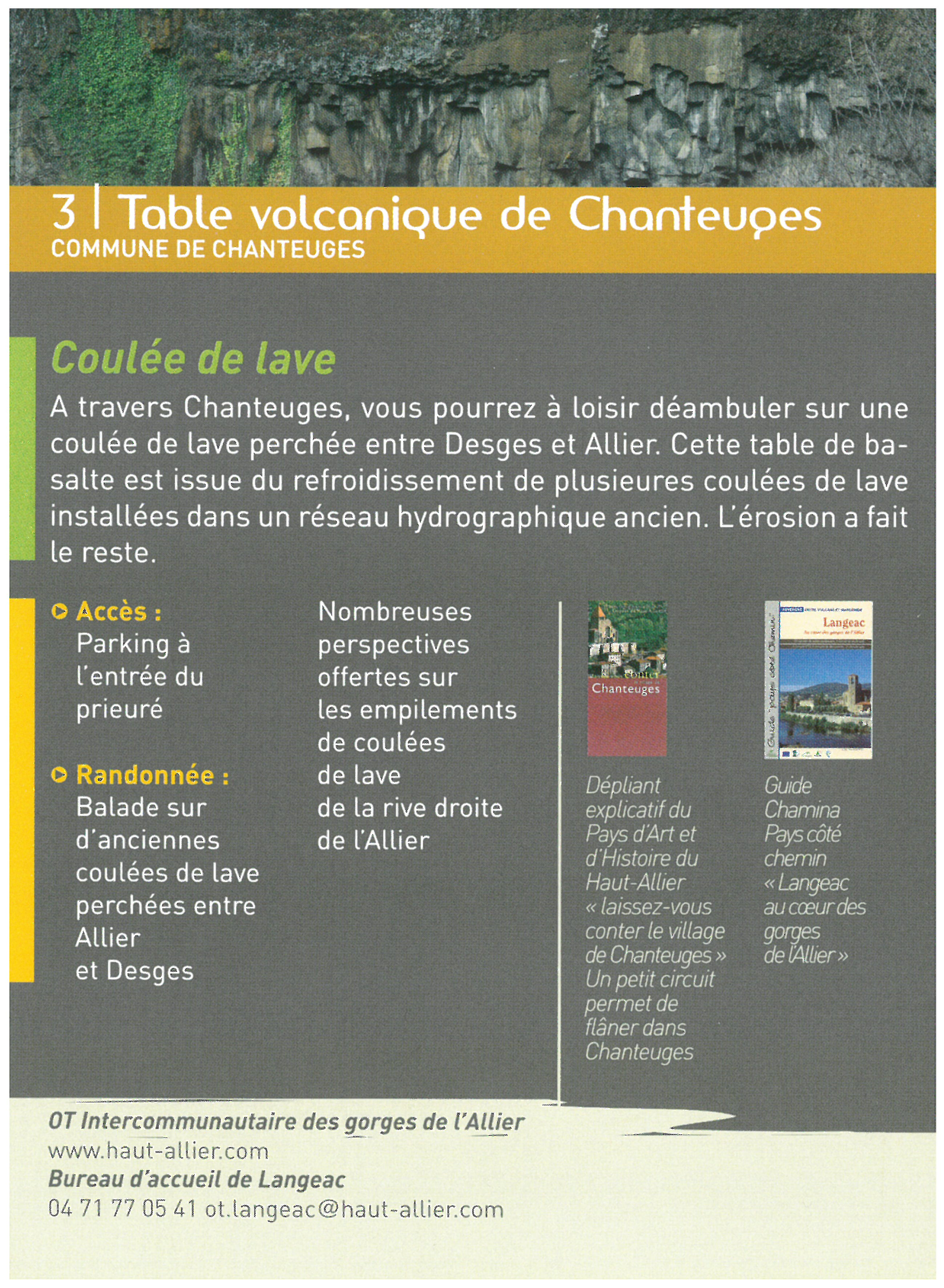 Table volcanique