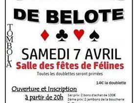 Concours de belote à Félines