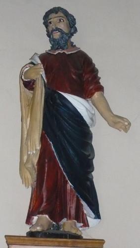 Statue polychromée de St-Barthélémy