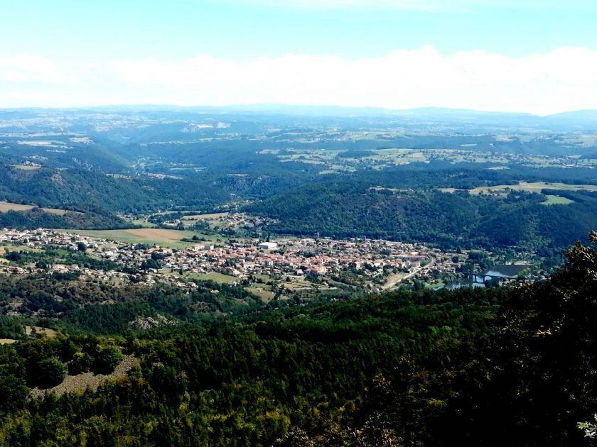 Vue du mont Gerbizon sur Retournac