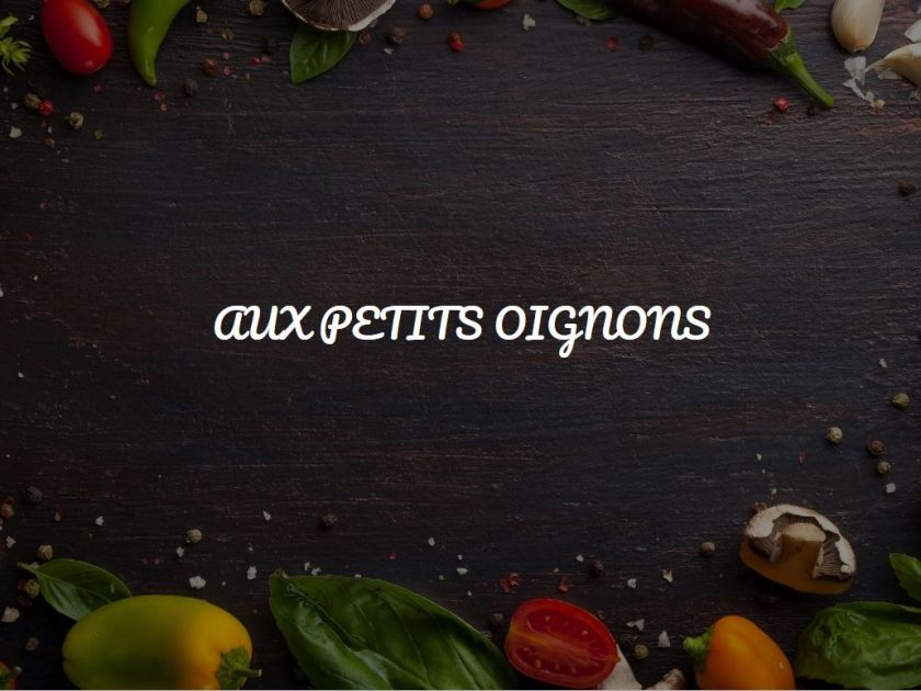 "restaurant ""Aux petits oignons"""